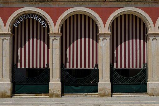 Restaurant, Bar, Cafe, Gastronomy, Window, Door, Goal