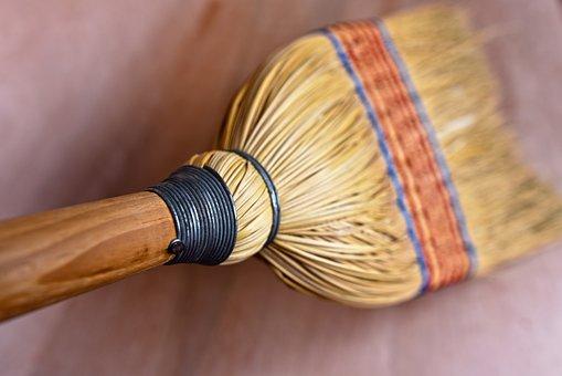 Rice Straw Broom, Broomstick, Bristles, Sweeping, Clean