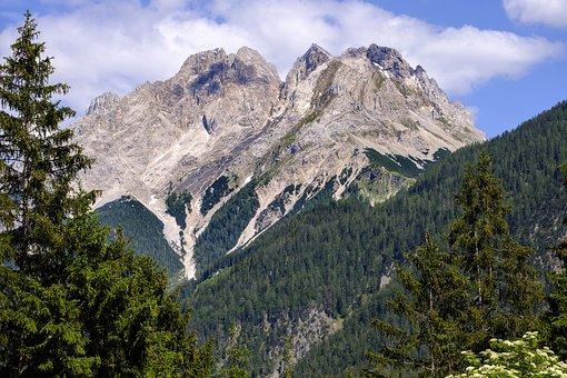 Landscape, Alpine, Mountains, Panorama, Rock