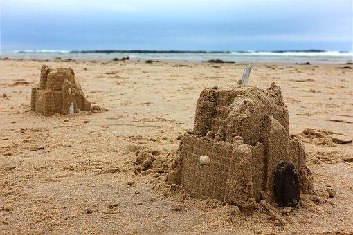 Sand, Castle, Sandcastle, Fortress, Ruin, Beach, Fort