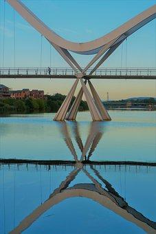 River, Reflection, Scenic, Reflections, Mood, Bridge