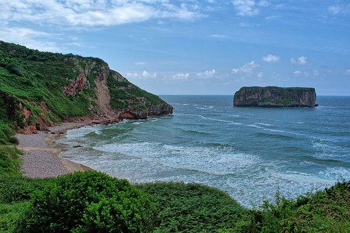 Costa, Sea, Nature, Asturias, Playa Andrin, Landscape