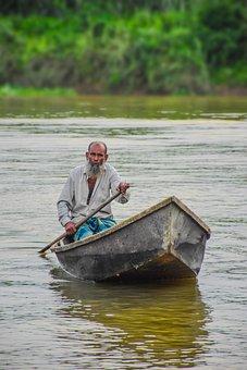 Boat, Old Boat Man, Ship, Travel, Fishing, Fisherman