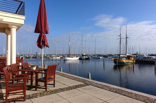 Port, Ships, Boats, Maritime, Terrace, Cafe, Holiday