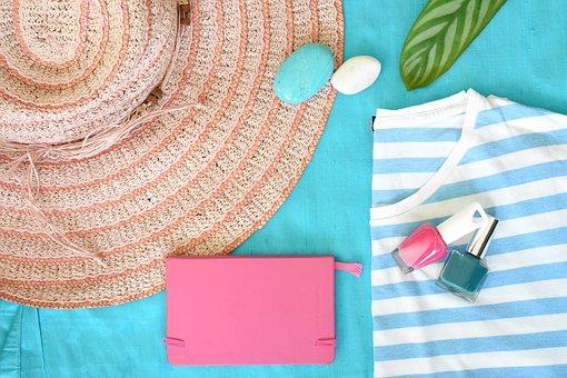 Summer, Straw Hat, Hat, Summer Hat, Shirt