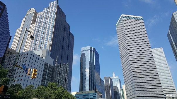 Downtown, Dallas, Skyscraper, Urban, Architecture