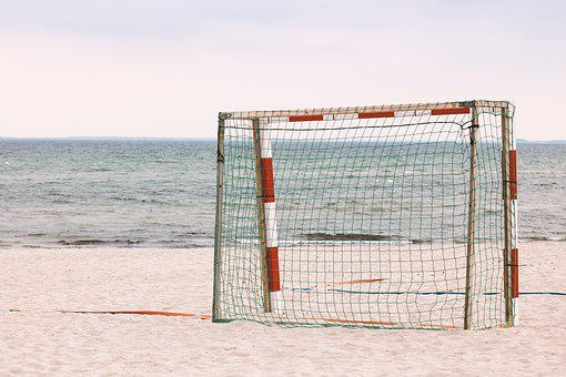 Goal, Football, Sport, Beach, Ball Sports