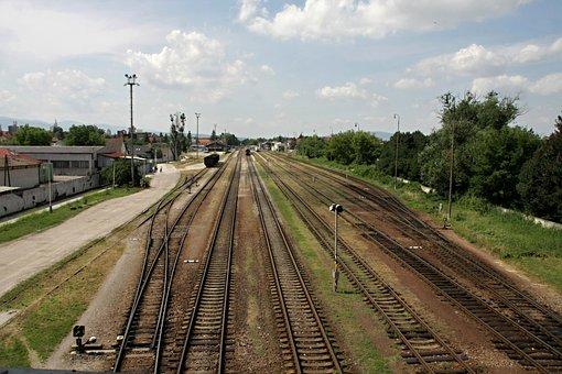 Station Prievidza, Tracks, Railway, Railroad