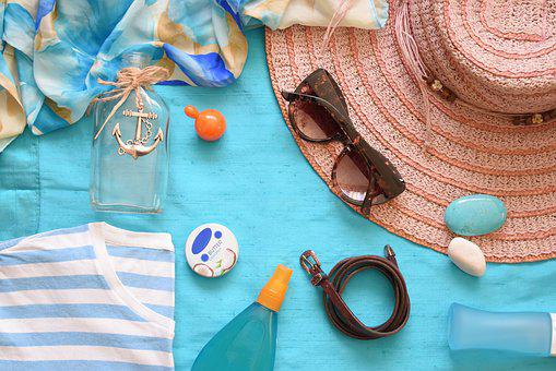 Summer, Summer Flat Lay, Flat Lay, Hat, Summer Hat