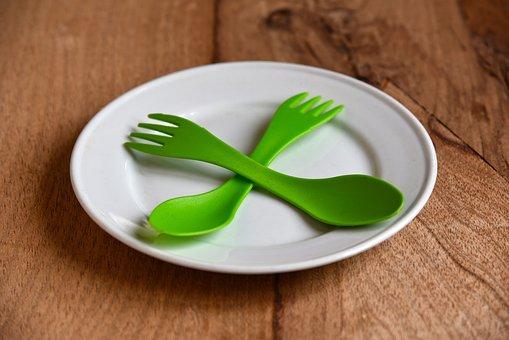 Plate, China, Eating, Tableware, Spoon, Fork, Cutlery