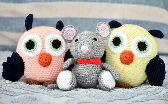 Toys, Soft, Owls, Mouse, Unlikely Friends