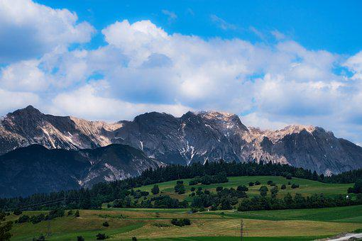 Landscape, Alpine, Mountains, Panorama, View