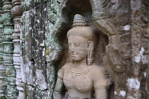 Cambodia, Angkor, Temple, Ancient, Ta Nei, Architecture
