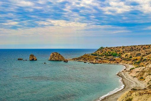 Cyprus, Aphrodite's Rock, Landscape, Coastal, Scenery