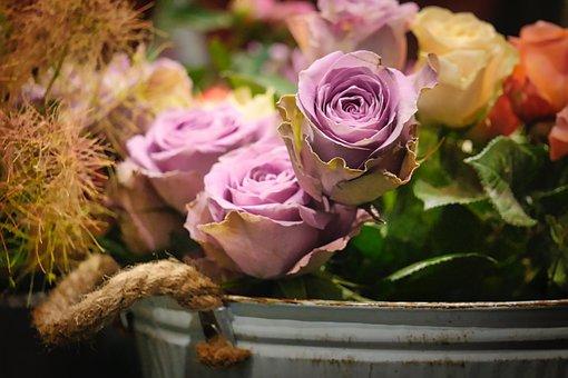 Rose, Arrangement, Love, Bouquet, Flowers, Romance