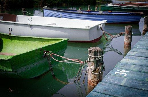 Boats, Lake, Balaton, Summer, Nature, Water, Blue