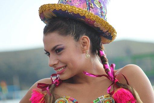 Dancer, Bolivia, Travel, Hat, Girl, Woman