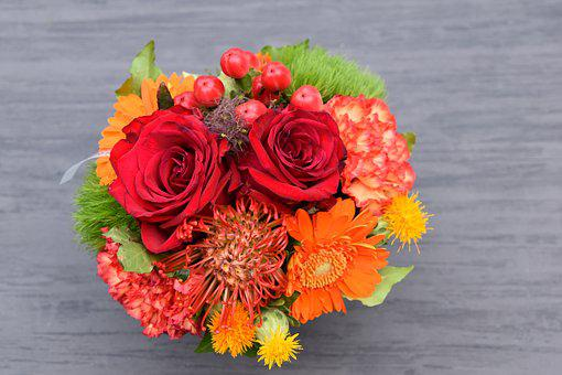 Bouquet, Flowers, Mounting, Colorful, Plants, Nature