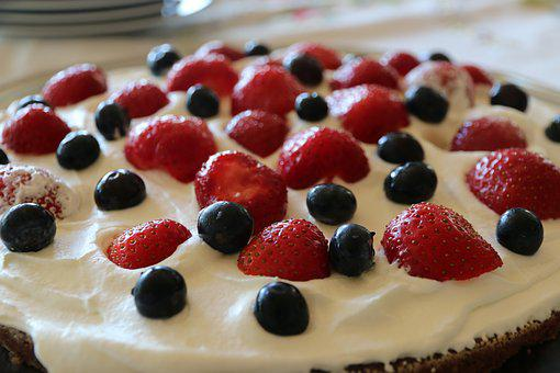 Strawberry Cake, Coffee Break, Cream, Cake