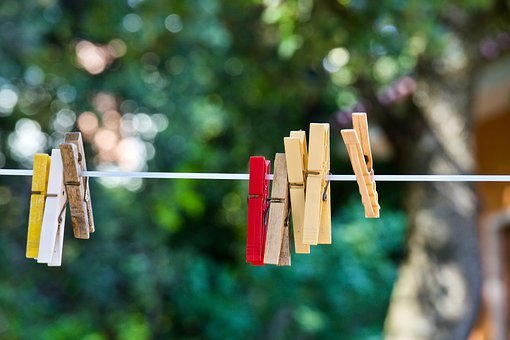 Clothespins, Mollete Laundry, Laundry