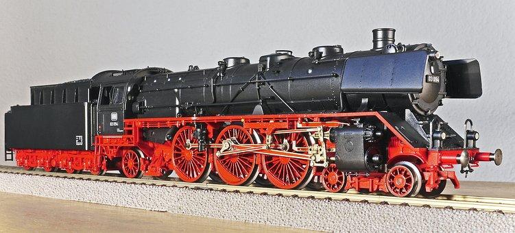 Steam Locomotive, Model, Scale H0, Express Train