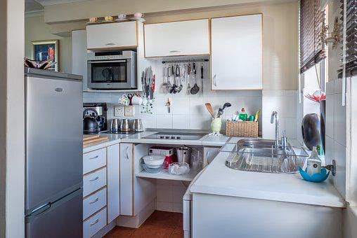 Kitchen, Interior, Home, House, White, Furniture, Sink