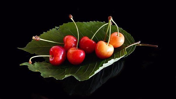 Cherries, Glass Cherries, Fruits, Delicious, Food