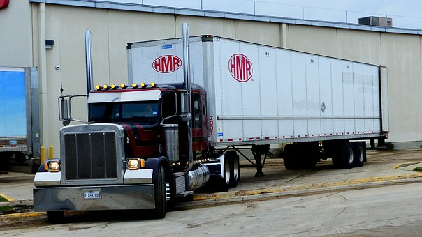 Truck, Transport, America, Vehicle, Loading, Hangar