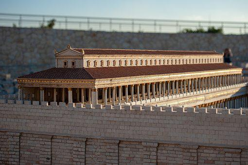 Jerusalem, Temple, Model, Religion, Culture