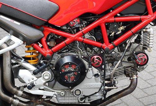 Ducati, Monster, Motorcycle, Italian, 4-stroke, Engine