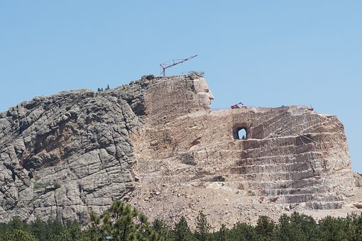 Crazy Horse Memorial, S Dakota, Native Indians, Hero