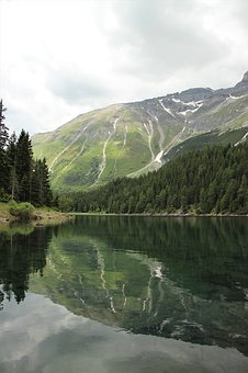 Nature, Reflection, Water, Lake, Mountains, Trees