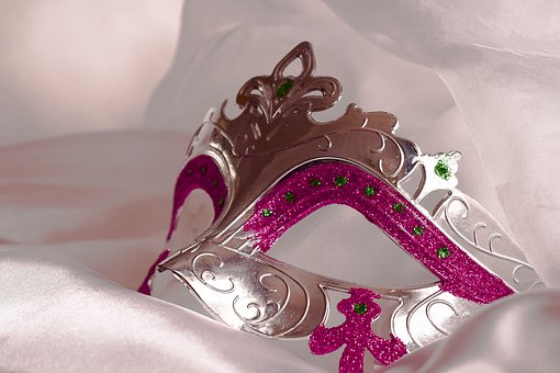 Mask, Party, Carnival, Pink, Romantic
