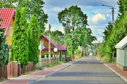 Suchowola, Podlaskie, Poland, Way, Road, Village