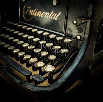 Typewriter, Vintage, Retro, Write, Keyboard, Author
