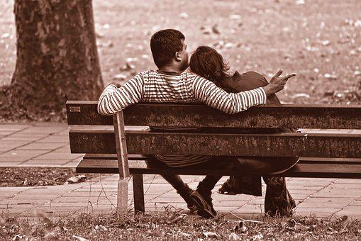 People, Couple, Two, Together, Sitting, Bench
