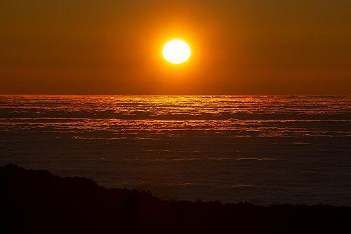 Sunset, Clouds, Sky, Nature, Landscape, Abendstimmung