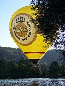 Hot Air Balloon, Air, Sky, Ballooning, Badesee, Lake
