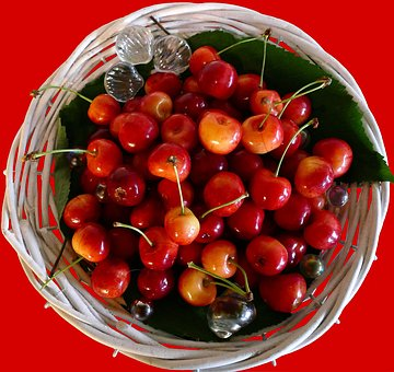 Cherries, Fruit, Ripe, Sweet, Delicious, Healthy