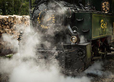 Steam, Train, Logs, Locomotive, Railway, Travel