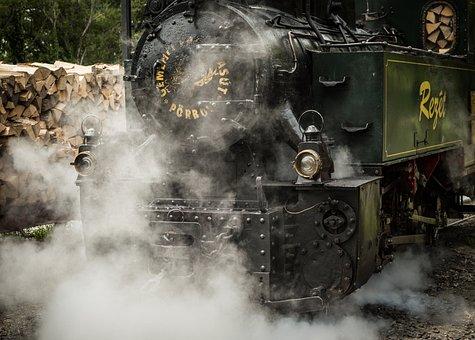 Steam, Train, Logs, Locomotive, Railway, Travel