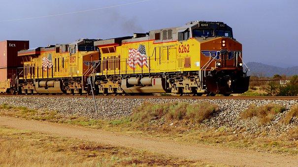 Train, Transport, Diesel, America, Freight, Engine
