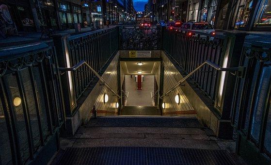 Berlin, Subway, Underground, Metro, Transport, Station