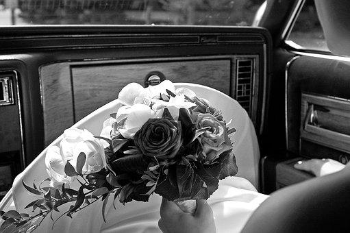Bridal Bouquet, Bride, Wedding, Oldtimer, Flowers