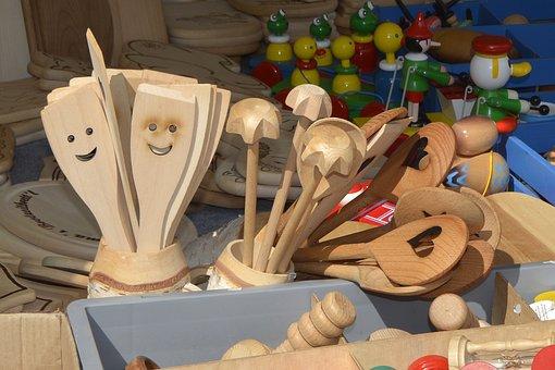 Wooden Spoon, Kellen, Spoon, Wood, Wood Trowels