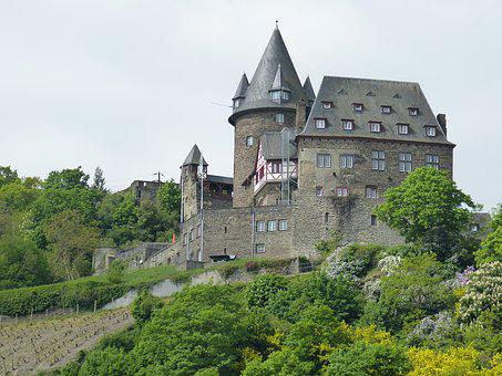 Bacharach, Castle, Fortress, Rhine Valley, Stahleck