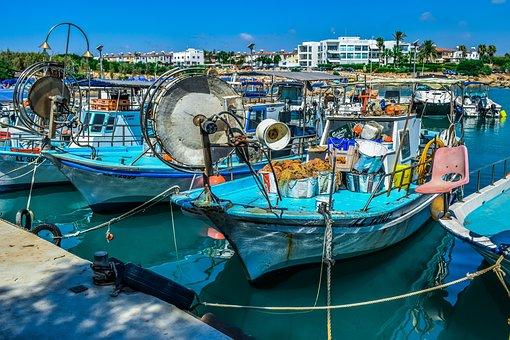 Fishing Harbor, Boat, Scenery, Island, Mediterranean