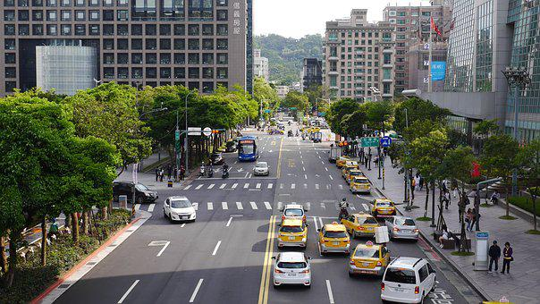 Car, Taxi, Vehicle, Traffic, City, Urban