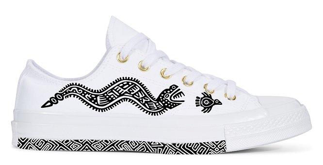 Shoes, Maya, Motifs, Custom, Converse