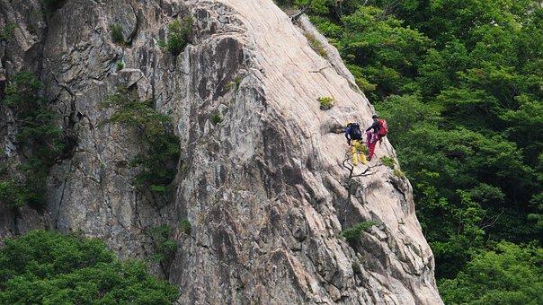 Rock Climbing, Daedunsan, Daedunsan Cable Car, Korea